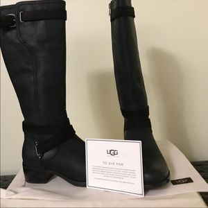 Gorgeous UGG Black Leather Boots